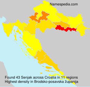Familiennamen Senjak - Croatia