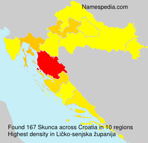 Surname Skunca in Croatia