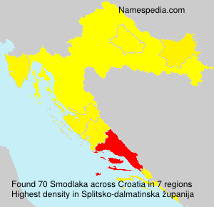 Familiennamen Smodlaka - Croatia