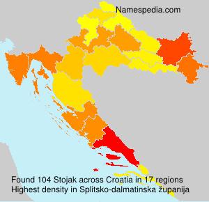 Familiennamen Stojak - Croatia