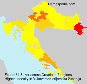 Surname Suker in Croatia