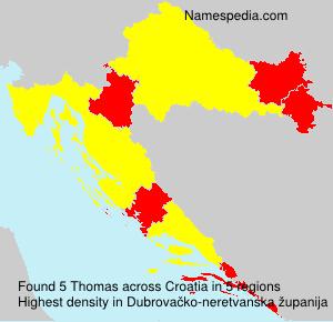 Surname Thomas in Croatia