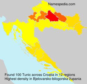 Familiennamen Tunic - Croatia