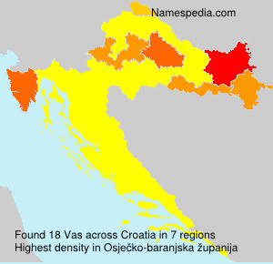 Surname Vas in Croatia
