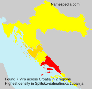 Surname Viro in Croatia