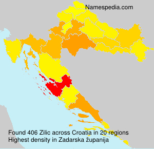 Surname Zilic in Croatia