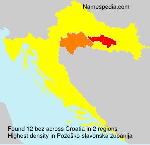 Familiennamen bez - Croatia