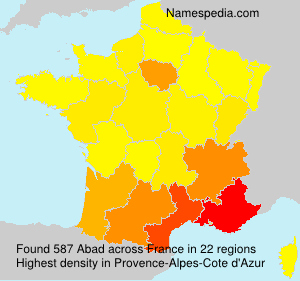 Surname Abad in France