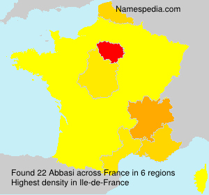 Surname Abbasi in France