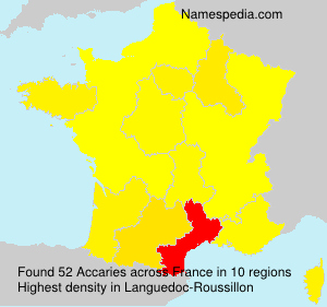 Surname Accaries in France