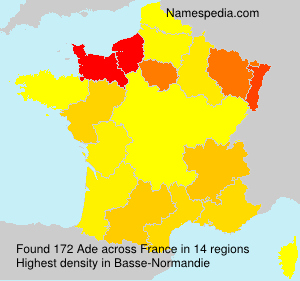 Surname Ade in France