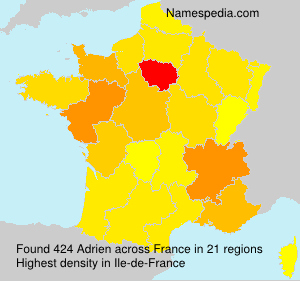 Surname Adrien in France