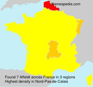 Familiennamen Affeldt - France
