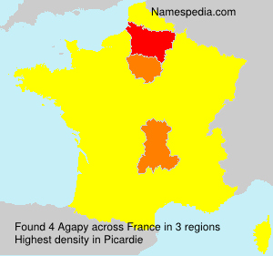 Surname Agapy in France