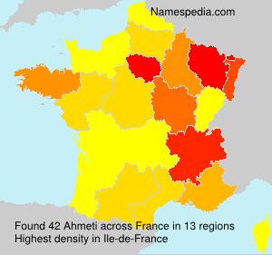 Surname Ahmeti in France
