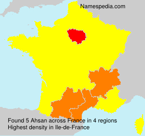 Surname Ahsan in France