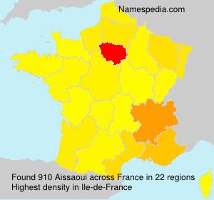 Surname Aissaoui in France