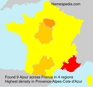 Surname Ajour in France
