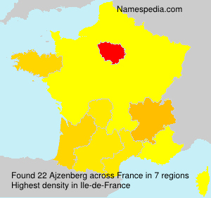 Surname Ajzenberg in France