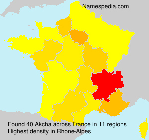 Surname Akcha in France