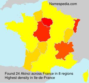 Familiennamen Akinci - France
