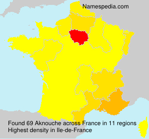 Surname Aknouche in France