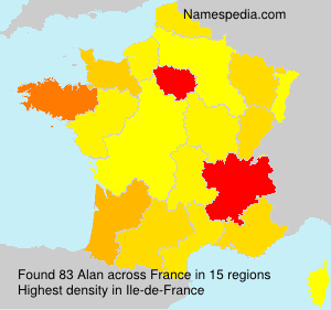 Surname Alan in France