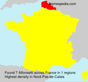 Surname Alfonsetti in France