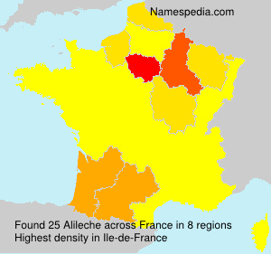 Surname Alileche in France
