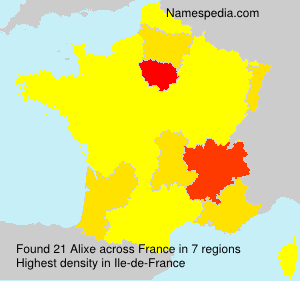 Surname Alixe in France