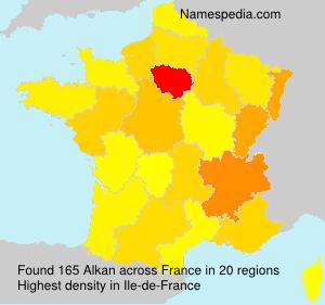 Familiennamen Alkan - France