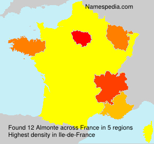 Surname Almonte in France