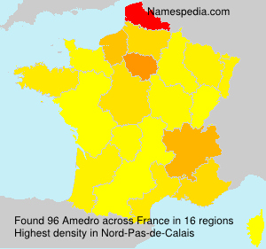 Surname Amedro in France