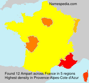 Surname Ampart in France