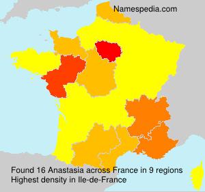 Surname Anastasia in France