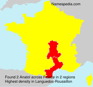 Surname Anatol in France
