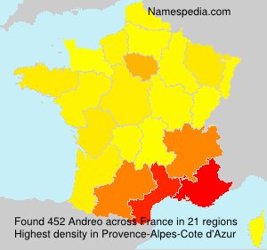 Surname Andreo in France
