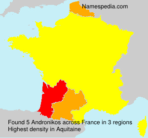 Surname Andronikos in France