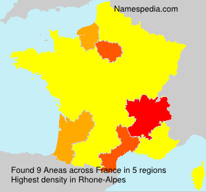 Surname Aneas in France