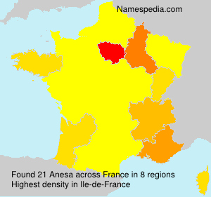 Surname Anesa in France