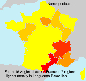 Surname Angleviel in France