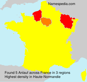 Surname Anlauf in France
