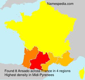 Surname Ansado in France
