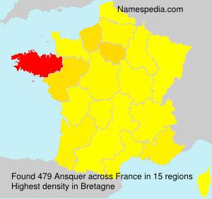 Familiennamen Ansquer - France