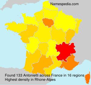 Surname Antonietti in France