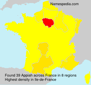 Surname Appiah in France