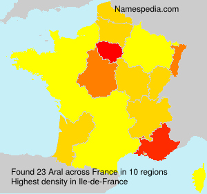 Surname Aral in France