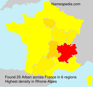 Surname Arban in France