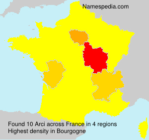 Surname Arci in France