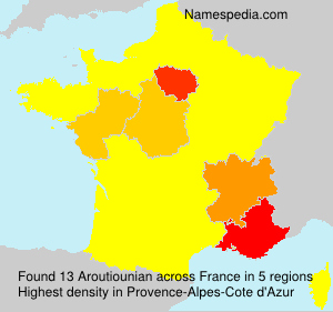Surname Aroutiounian in France
